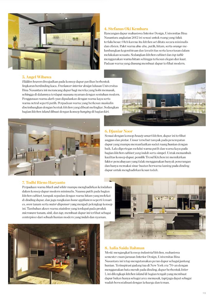 Congratulation to 3 students Interior Binus Wining Modena Kitchen Design Award 2015