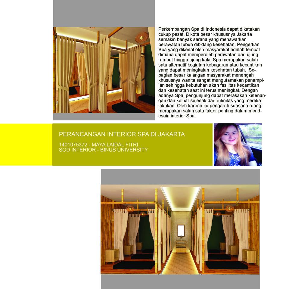 PERANCANGAN INTERIOR SPA DI JAKARTA, 1401075372 – MAYA LAIDAL FITRI, SOD INTERIOR – BINUS UNIVERSITY