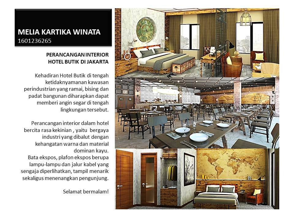 PERANCANGAN INTERIOR HOTEL BUTIK DI JAKARTA