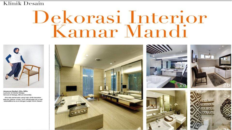 Dekorasi Interior Kamar Mandi