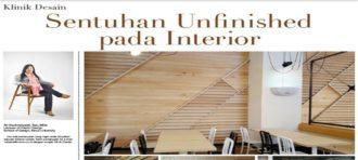 Sentuhan Unfinished pada Interior