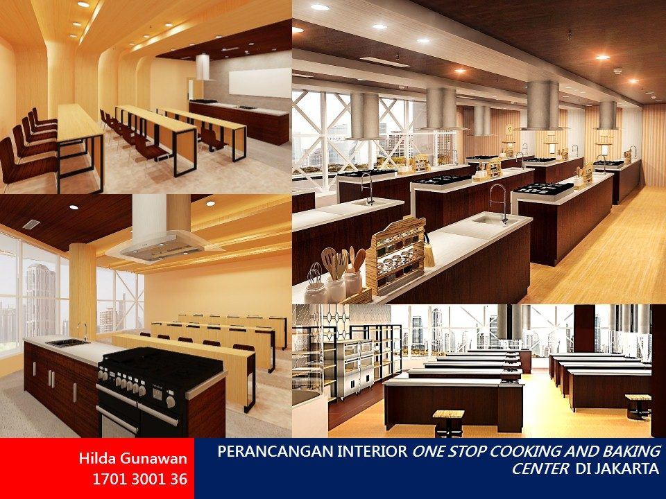 PERANCANGAN INTERIOR ONE STOP COOKING AND BAKING CENTER  DI JAKARTA