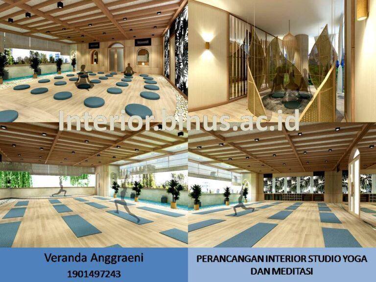 PERANCANGAN INTERIOR STUDIO YOGA DAN MEDITASI DI JAKARTA