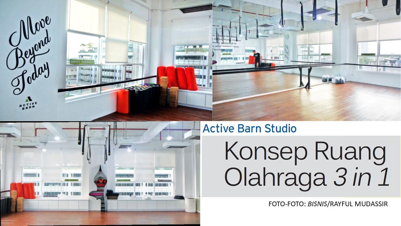 Konsep Ruang Olahraga 3 in 1 Active Barn Studio – Interior