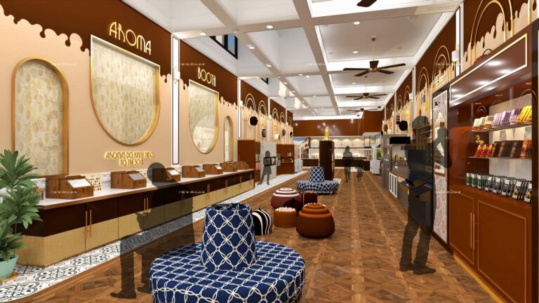 Perancangan Interior Pusat Wisata Cokelat di Bandung