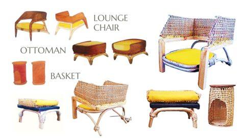 DF 4 HOTEL: Katamama Lounge Chair + Ottoman (Fabio Ilyasha Hutagalung - 2201807091)