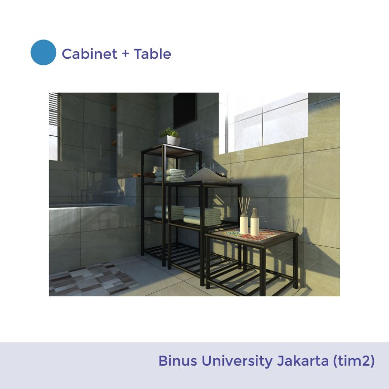 Cabinet + Table Lamp